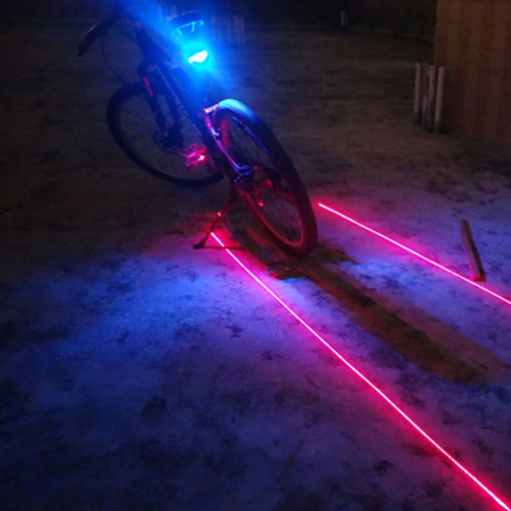 Laser Cycling 5 LED Rechargeable Bike Bicycle Tail Warning Light Rear Safety k