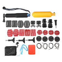 Mini Sports Video Camera Accessories Outdoor Diving Set w/ Buoyancy Stick/Waterproof Shell/Self timer Rod