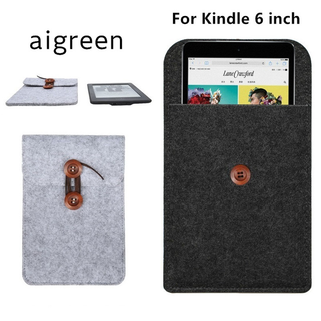 US $4 55 |2019 Fashion Wool Felt Case For 6 inch Amazon Kindle, Cover For  Kindle Paperwhite, Bag For Kindle Voyage, Free Drop Shipping -in Tablets &