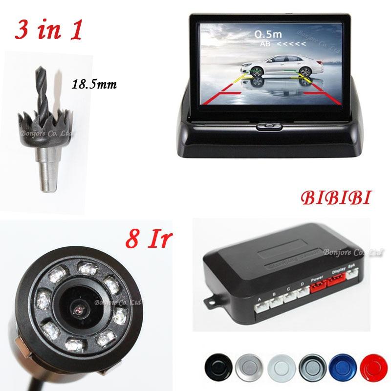 Koorinwoo Car Parking Sensors Speaker Connect Rear view font b Camera b font Back up Cam