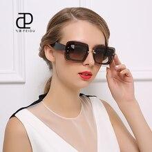 FEIDU Marca de Alta Calidad gafas de Sol de Las Mujeres Retro Vintage Gafas de Sol Panel de Recubrimiento Unisex gafas de Espejo Plano Lente Gafas de Sol Con caja