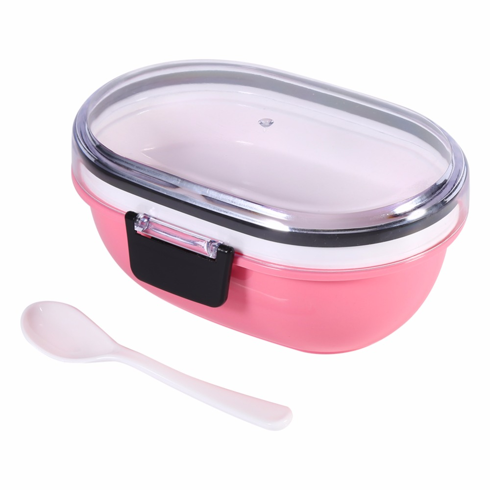 stainless steel meal box with plastic multilayer tiffin boxes thermal bento for school students. Black Bedroom Furniture Sets. Home Design Ideas