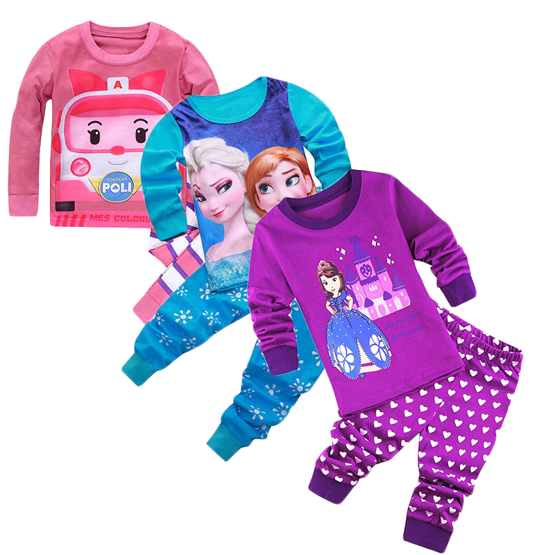 8584758eb Children Princess Anna Elsa Pajamas Set Baby Girl Boys Little Tig 100% Cotton  Pyjamas T shirt Pants 2pcs Kids Snow Clothing Suit-in Pajama Sets from  Mother ...