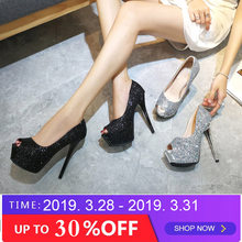 cac269141a1b8f 2019 fashion summer women Super High Heels Sexy shoes platform shoes pumps  Wedding Party Nightclubs 14cm OL Office shoes RA-33