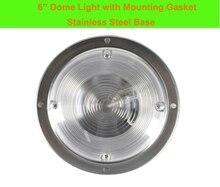 3 w 자동차 인테리어 led 천장 돔 라이트 화이트 스테인레스 스틸 램프 12 v 해양 보트 캐러밴 모터 홈 액세서리
