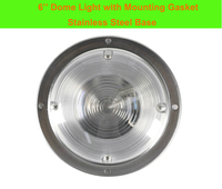 dome lamp 3W Car Interior LED Ceiling Dome Light White Stainless Steel Lamp for 12V Marine Boat Caravan Motor Home Accessories (1)