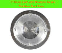 3W Car Interior LED Ceiling Dome Light White Stainless Steel Lamp for 12V Marine Boat Caravan Motor Home Accessories