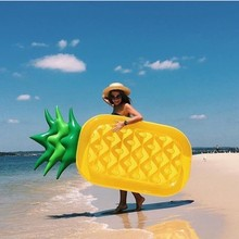 180cm Giant Pineapple Inflatable Pool Float Adult Children Swimming Ring Beach Water Toys For Baby Floating Air Mattress piscina
