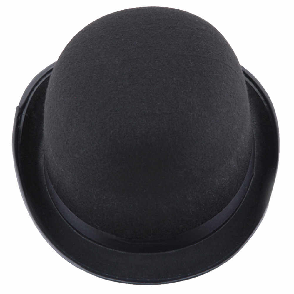 17cm 100% Wool Sherlock Holmes Steampunk Hat Women Men Fedora Mad Hatter  President Magic Top 59b55fe8a444