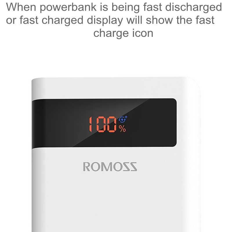 Romoss мощность PD банк 30000 мАч QC3.0 Quick Charge power Bank 30000 мАч 9 В 2A 12 В 1.5A для iPhone X Xiaomi Mi8 samsung S9 Nexus 6p
