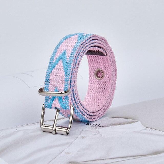Lona de las mujeres de los hombres hebilla del Metal tejido estiramiento cinturón Metal hebilla tejida trenza cinturones