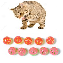 10pc/Set Small Pet 4cm Stars Interactive Bell Plastic Original Toys For Cat Ball with Bell Ring Play Chew Rattle Scratch Ball on Aliexpress.com | Alibaba Group