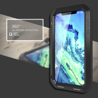 Fashion! For i X AntiDrop Shock Dirt Snow/Water/Shock/Rain Waterproof Metal Protect Case Cover Wrap with Tempered film for i 10