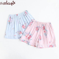 Fdfklak 2018 Summer Cotton Sleeping Pants Women Floral Home Shorts Women Pajama Pants Lounge Pants Women Sleeping Trousers Q974