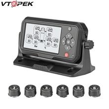 Truck TPMS Tyre Pressure Monitoring System Automotive Tire Failure Alarm Apparatus 6 External Sensors Tire Abnormal Temperature