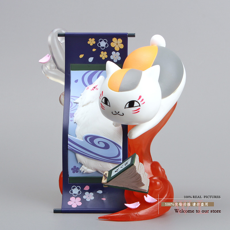 Free Shipping Natsume Yuujinchou Nyanko Sensei Cat PVC Action Figure Collection Model Toy Doll 15cm NYFG009 new hot 16cm natsume yuujinchou cat nyanko sensei action figure toys collection christmas gift