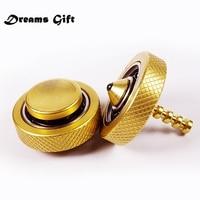 New Gyro Fidget Spinner Hand Spinner Finger Tri Spinner Metal Pure Copper Brass EDC Ceramic Bearings