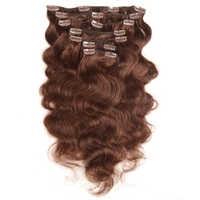 Mode Plus Clip in Menschliches Haar Extensions Maschine Made Remy Menschenhaar Clip In Extensions Voller Kopf 7 teile/satz 120g Körper Welle