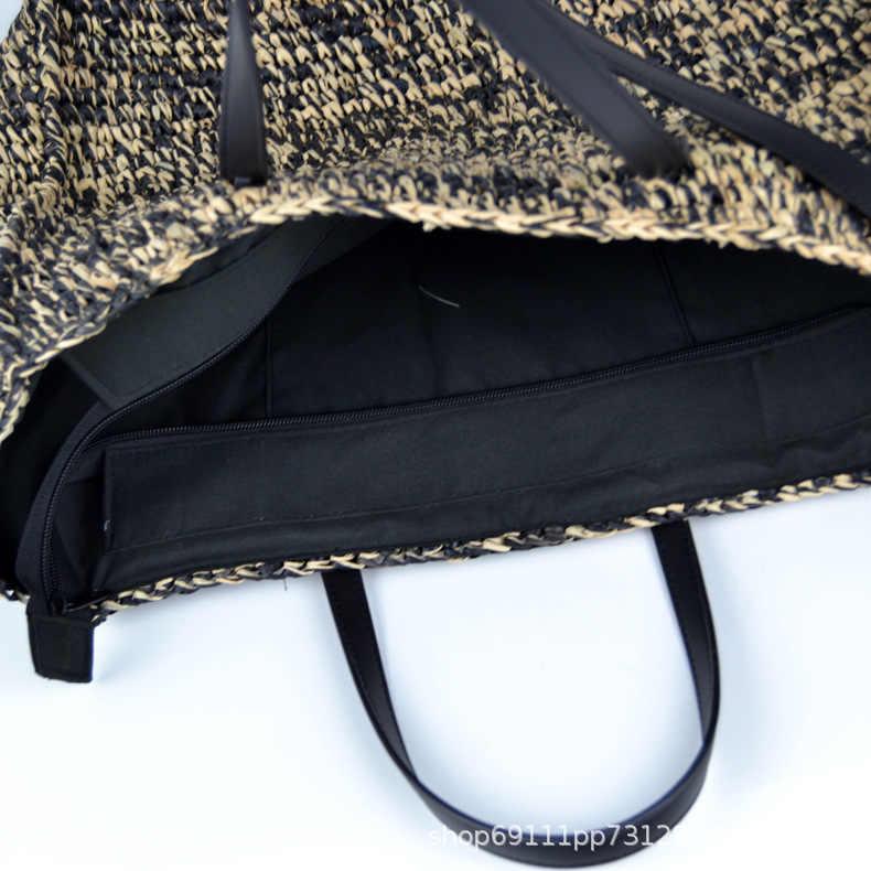Модные женские сумки Raffia, Повседневная пляжная соломенная сумка, большие сумки, плетеная лоза, сумки через плечо, летний кошелек, ведра 2019