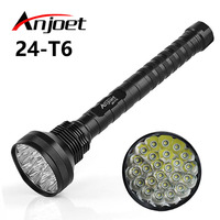Anjoet powerful led flashlight 35000LM XML 24*T6 Hunting Lights Outdoor exploration Lamp Lighting tactical 26650/18650 Torch