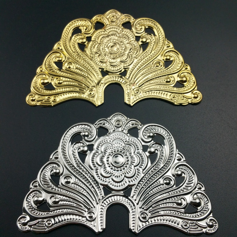 10pcs/lot 58*90mm Filigree Metal  Crafts Decoration  For Jewelry Making DIY Accessories Box Decoration Cosplay Accessories