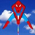 1 Pçs/set bonito spiderman pipa com linha punho de nylon pipa pipas brinquedos ao ar livre para a venda de energia flying dragon