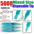 Solong Tattoo 5000 x Disposable Tattoo Tips Blue Color Assorted Mixed Size for Grip Needle Ink Kit TP302-5000