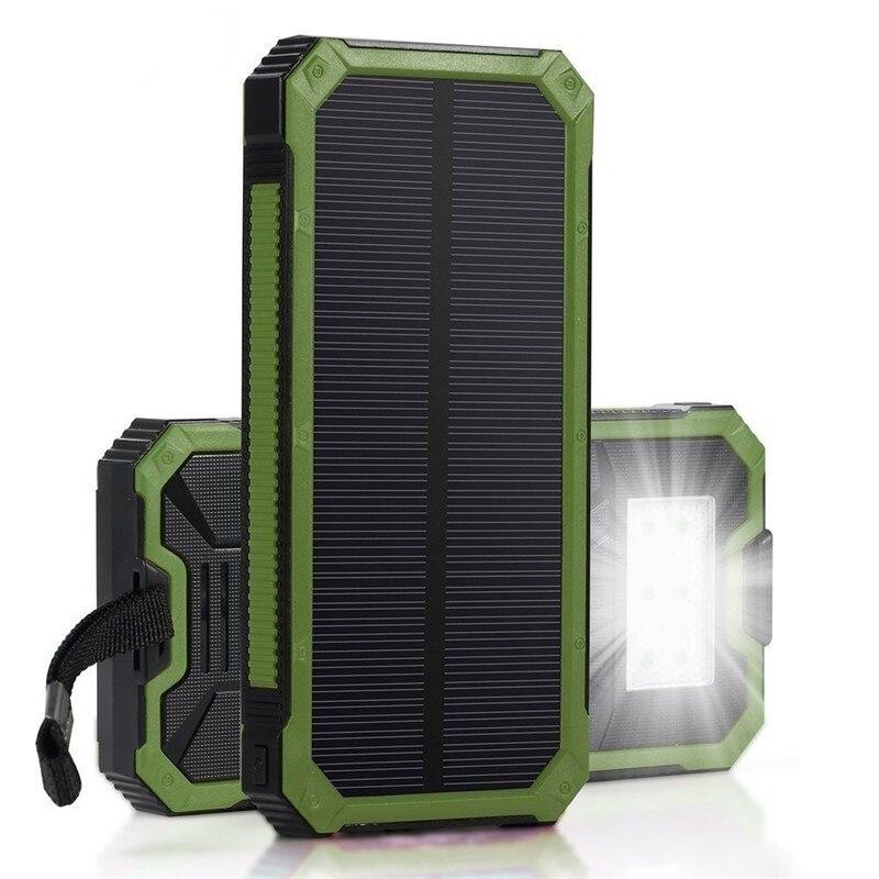 imágenes para Original Bluleki Celular Banco de la Energía Del Teléfono Móvil banco de la Energía Solar Portátil Cargador de Batería Externo Powerbank Móvil 15000 mah
