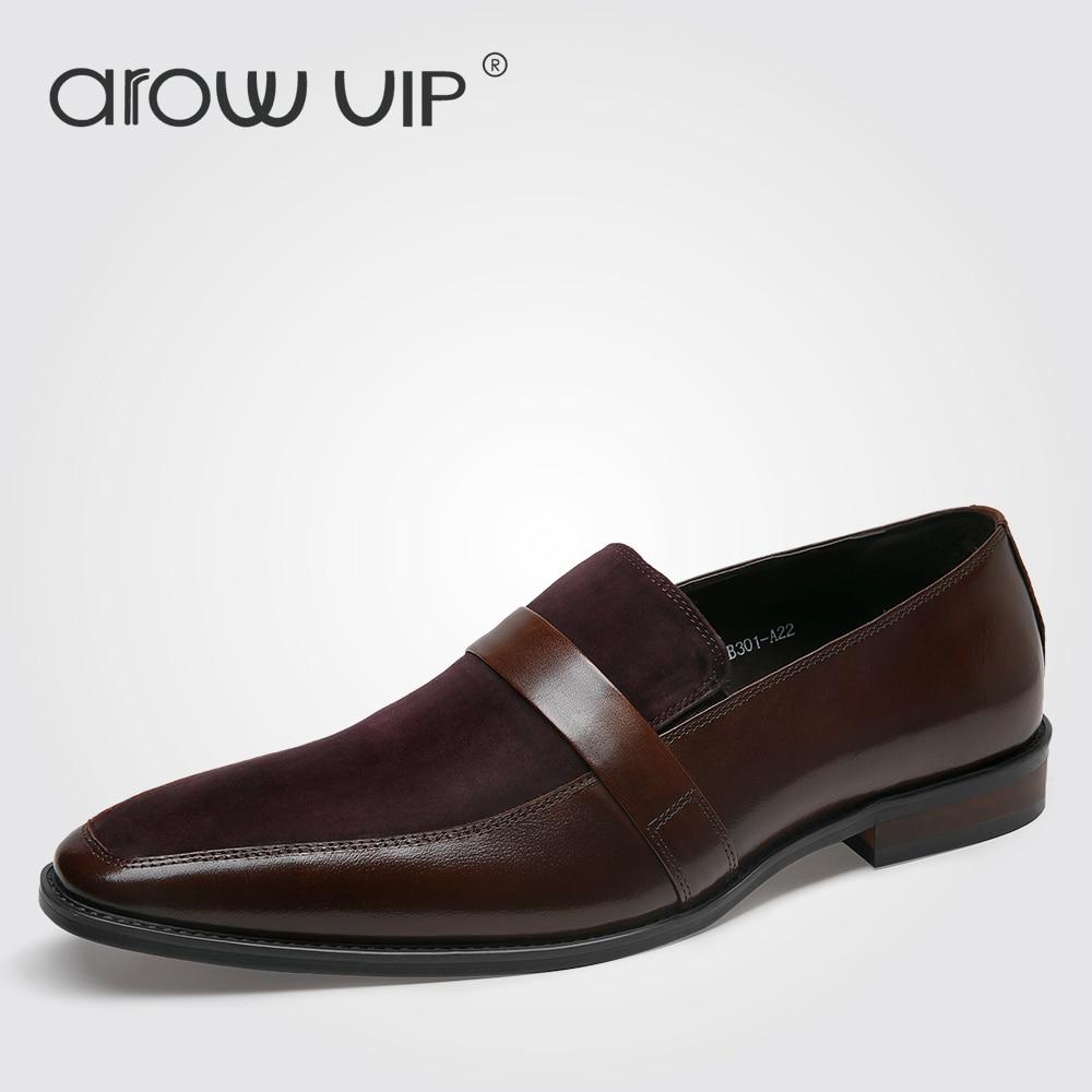 arow vip brand genuine leather dress shoes fashion
