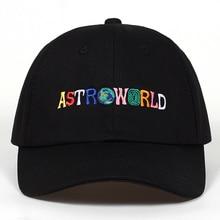 Хлопок ASTROWORLD бейсболка s Трэвиса Скотта унисекс Astroworld папа шляпа высокое качество вышивка мужская женская летняя шляпа