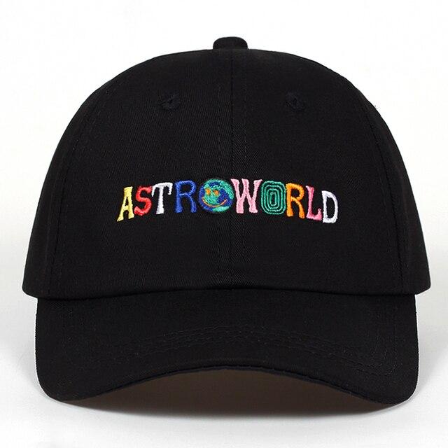 100% Cotton ASTROWORLD Baseball Caps Travis Scott Unisex Astroworld Dad Hat Cap High Quality Embroidery Man Women Summer Hat