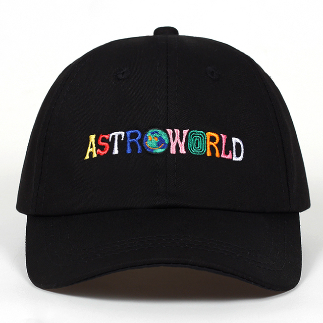 100% כותנה ASTROWORLD בייסבול כובעי טראביס סקוט יוניסקס Astroworld אבא כובע כובע באיכות גבוהה רקמת איש נשים קיץ כובע