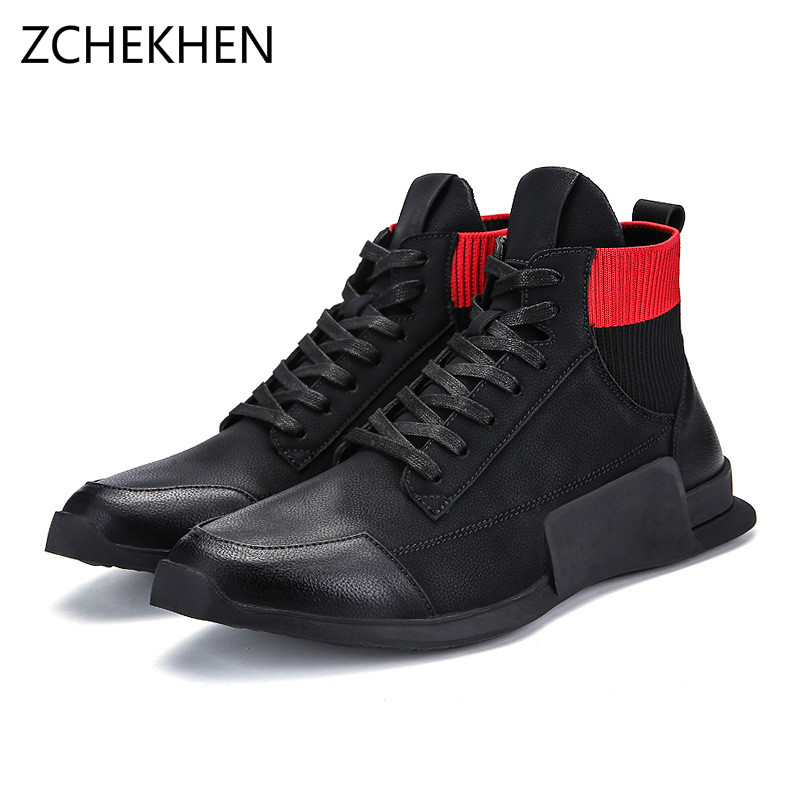 Fashion Justin kanye west ankle boots famous stars hip hop shoes street  dance high top casual cf1740ceb900