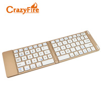 2 IN 1 Ultra Thin Bluetooth Wireless Foldable Full Size Keypad Portable Keyboard For Iphone SAMSUNG