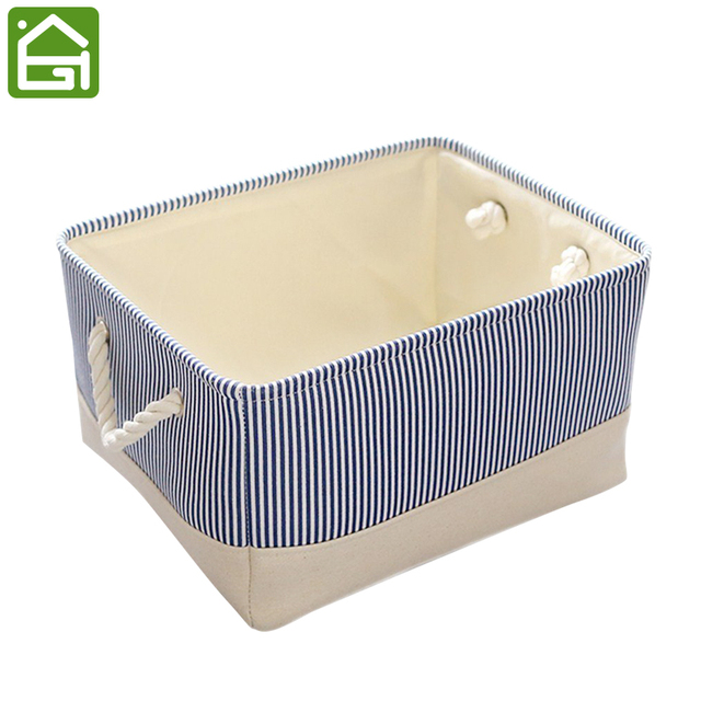 Attrayant Eco Friendly Blue Tube Canvas Storage Bins Clothes And Baby Toys Fabric  Storage Basket With