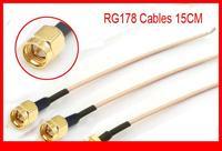 30 stück kupfer rf sma stecker gerade crimp rg178 kabel 15cm vertüllen diy