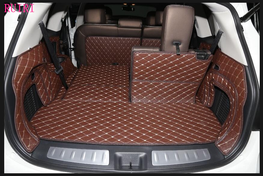 Good quality! Special trunk mats for Nissan Pathfinder R52 7 seats 2017-2013 durable cargo liner mats boot carpets,Free shipping