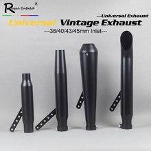Uniwersalny tłumik rury wydechowej do motocykla retro vintage klasyczne czarne escap moto dla cg125 sr400 cb500 vt500 w800 v7