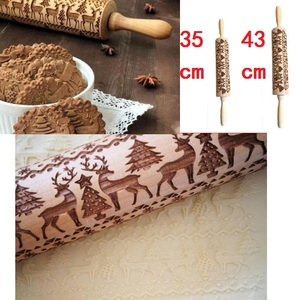 Рождественский гравированный роллер Олень Снежинка тиснение скалка для печенья лапша печенье, фондан, пирог тесто Прямая поставка
