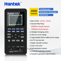 Hantek Осциллограф мультиметр Ручной + Генератор сигналов 3 в 1 осциллограф Автомобильный USB 2 Каналы 40 мГц 70 мГц ЖК дисплей