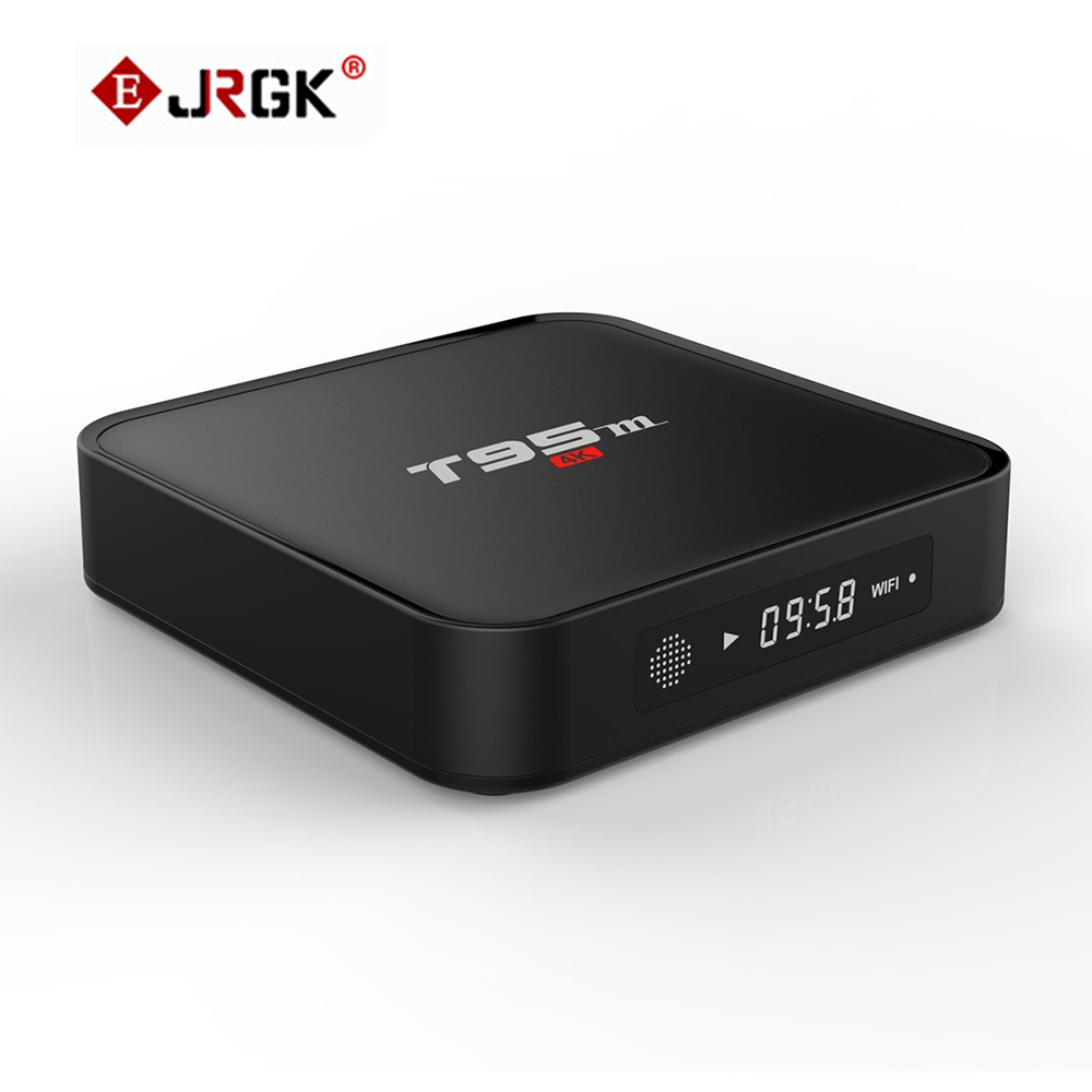 JRGK T95M TV Box Android 5.1 Amlogic 1080P S905X Quad Core 4k/2k 1GB 8GB HDMI WiFi Smart Media Player TVBOX general packaging single channel uhf vocal wireless microphone professional for ktv karaoke stage dj singing microphone pgx4