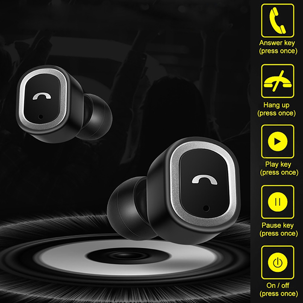 TWS Earbuds Bluetooth In ear Earphones Wireless Touch Control Earphone Noise Cancelling Headset with Microphone Charging Box in Bluetooth Earphones Headphones from Consumer Electronics