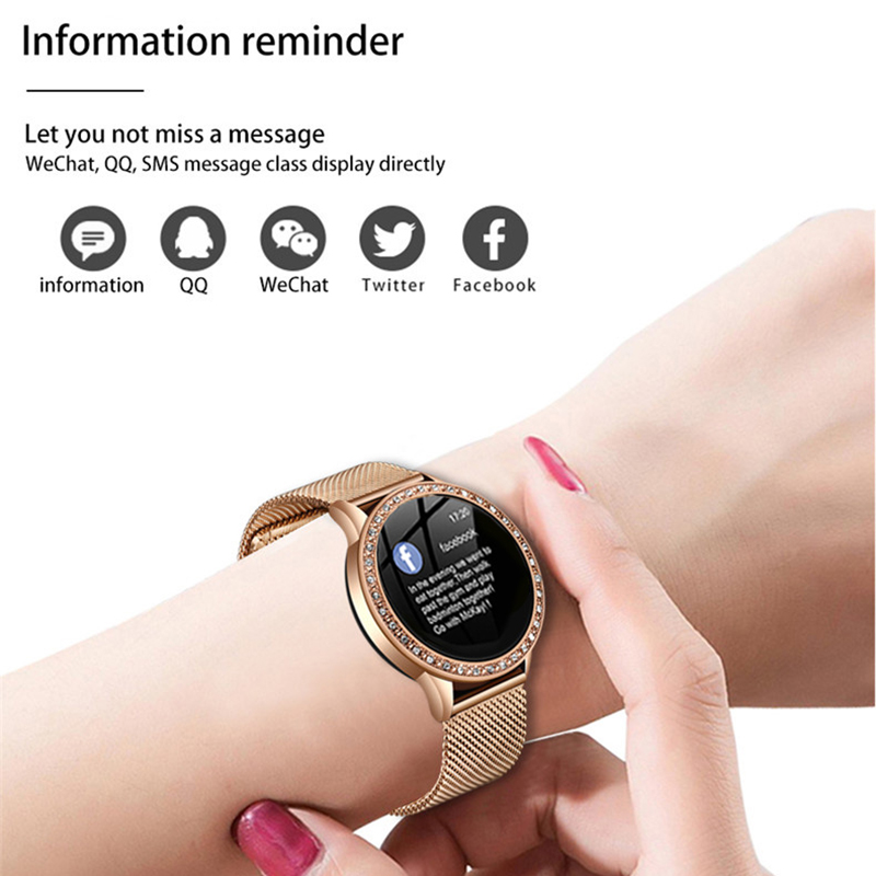 LIGE Ladies Smart Watch Women Blood Pressure Heart Rate Monitor Fitness tracker Sport Smart Band Alarm clock reminder Smartwatch 6