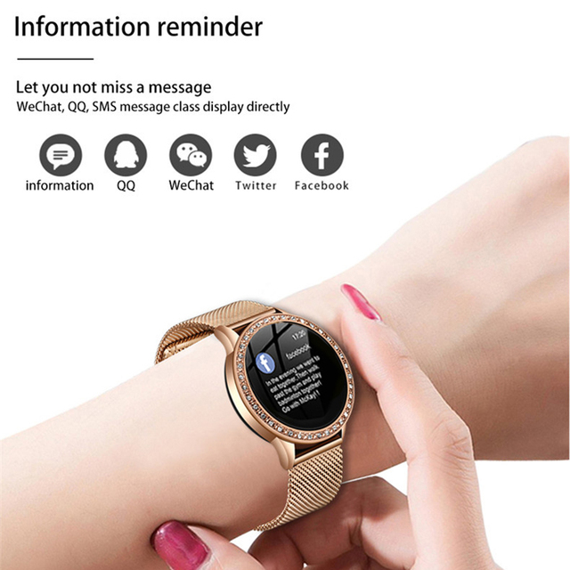LIGE Ladies Smart Watch Women Blood Pressure Heart Rate Monitor Fitness tracker Sport Smart Band Alarm clock reminder Smartwatch 5