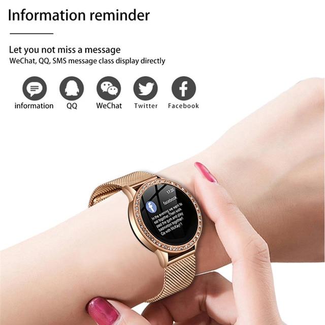 Reloj inteligente LIGE para mujer con monitor, seguidor Fitness de frecuencia cardíaca y presión arterial 5