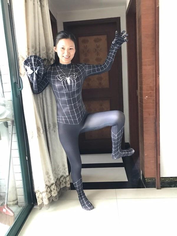 2018 New Women Spiderman costume female spider woman ...