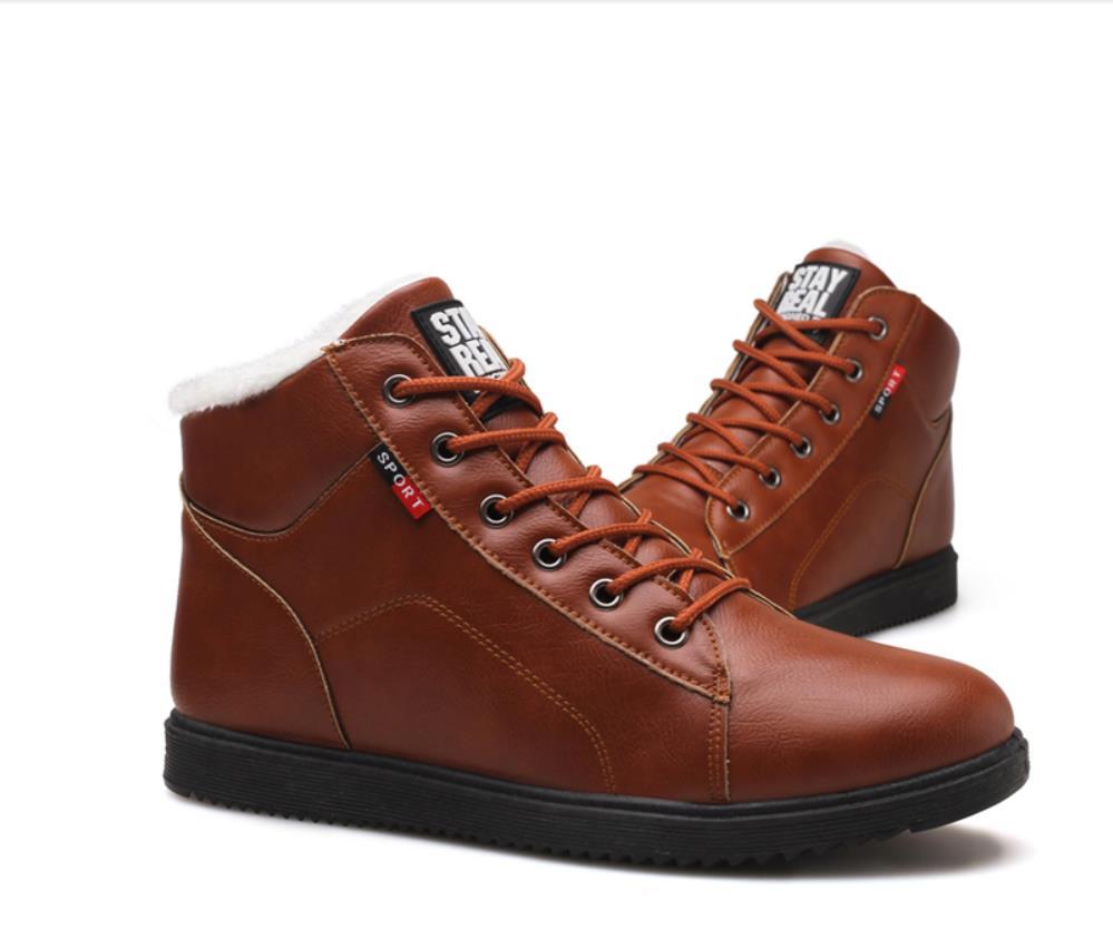 Herren Martin Boot Britische Mode Gürtelschnalle Aus Echtem