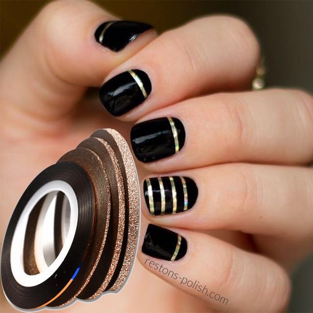 4pcs/lot 1-3mm Cinnamon Color Nail Art Tape Line Striping Decorations  Sticker Tips - 4pcs/lot 1 3mm Cinnamon Color Nail Art Tape Line Striping