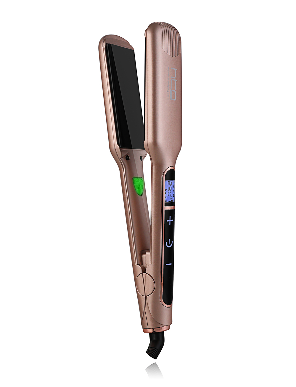 HTG Pro Hair straightener iron Flat Negative ION Ionic Hair Straightening +touch screen infrared Keratin Technology wide plates mch flexible 3d floating ceramic wide plates flat iron far infrared hair straightener straightening curling with negative ions