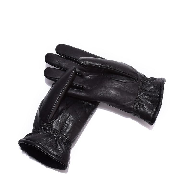 Kvinnors läderhandskar för vinter äkta pälsfoder Guantes Mujer - Kläder tillbehör - Foto 4